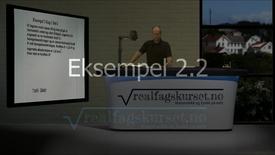 Eksempel 2.2.2