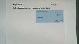 Thumbnail for entry Kapittel 18 1.2 Integrasjon som en grense av sum