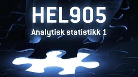 HEL905 - 06 Analytisk statistikk 1