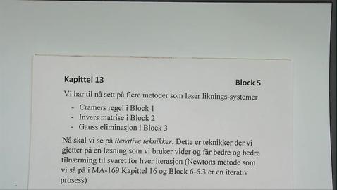 Thumbnail for entry Kapittel 13 5.2 Jacobi's metode
