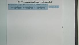 Thumbnail for entry Kapittel 14 2.5 Vektorers stigning og retningsvinkel 3-dim