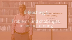 05 Problems and challenges in online tutoring