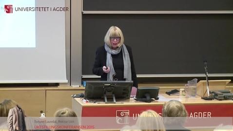 Thumbnail for entry 5 - Torunn Lauvdal - rektor UiA