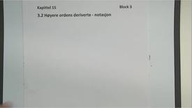 Kapittel 15 3.2 Høyere ordens deriverte - notasjon