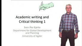 Thumbnail for entry Academic writing and Critical thinking 1