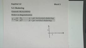 Kapittel 12 5.5 Skalering - matriser