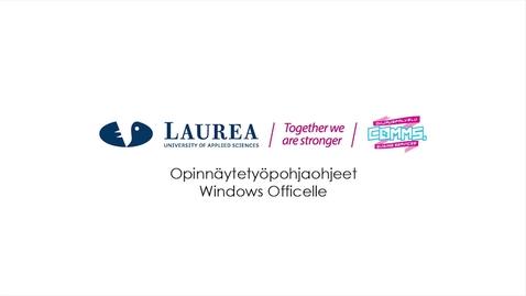 Opinnäytetyöpohjaohjeet Windows Officelle