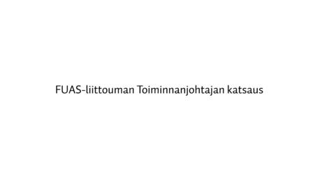 FUAS-toiminnanjohtajan katsaus 2016