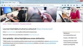 Thumbnail for entry Käyttäjätunnuksen aktivointi MyLaureassa