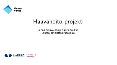 Tutkittua tietoa Vantaalta - Oivalluksia opinnäytetöistä, Haavahoito-projekti
