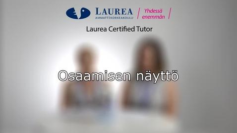 Certified Tutor -koulutus tietoiskuvideo: Osaamisen näyttö - Katri ja Johanna