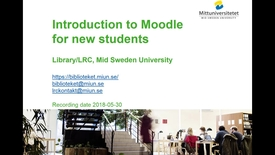 Thumbnail for entry Introduction to Moodle for new students