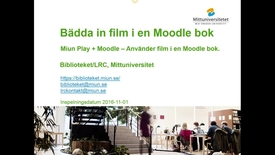 Thumbnail for entry Embed film i Moodle bok