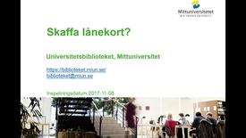Thumbnail for entry Skaffa lånekort?