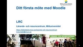 Thumbnail for entry Ditt första möte med Moodle