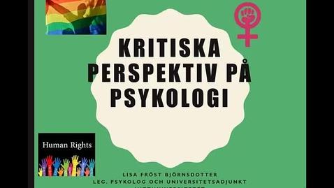 Kritiska perspektiv på psykologi - introduktion