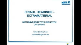 Thumbnail for entry Cinahl Headings -  extramaterial