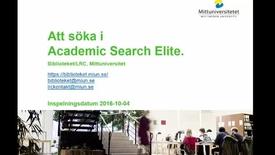 Thumbnail for entry Att_sökai_academic_search_Elite (Film 2: Academic Search Elite)