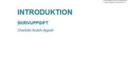 Thumbnail for entry Introduktion Skrivuppgiften - 2018 May 03 12:00:48