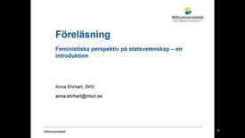Thumbnail for entry SO18_Föreläsning feministiska perspektiv på statsvetenskap