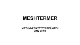 Thumbnail for entry MeSH-termer
