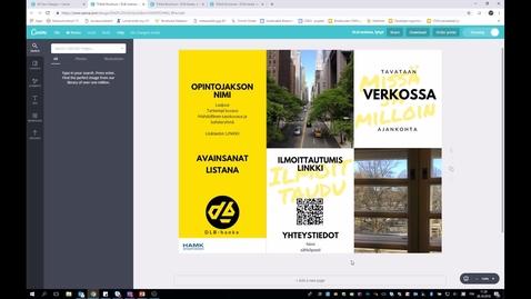 DLB-hankkeen mainospohjien esittely