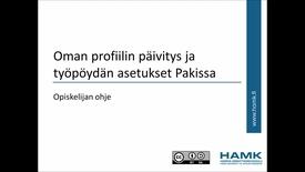 Thumbnail for entry Opiskelijan Pakki-ohjeet: omien profiilitietojen päivitys