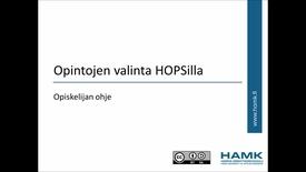 Thumbnail for entry Opiskelijan Pakki-ohjeet: Opintojen valinta HOPSille