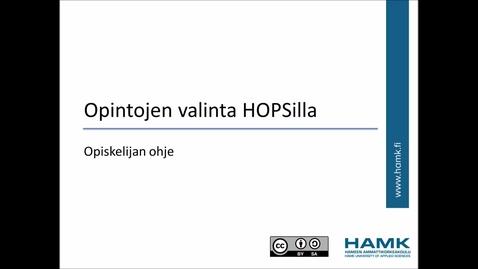 Opiskelijan Pakki-ohjeet: Opintojen valinta HOPSille