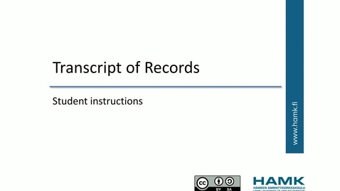 Pakki Student Instructions: Transcript of Records