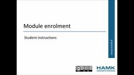 Thumbnail for entry Pakki Student Instructions: Module Enrolment
