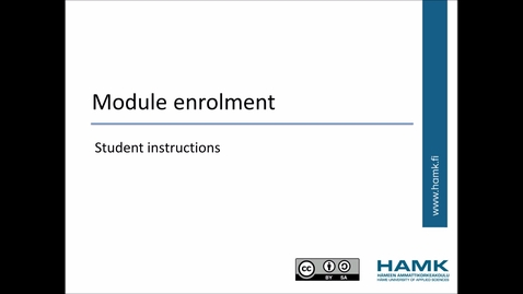 Pakki Student Instructions: Module Enrolment