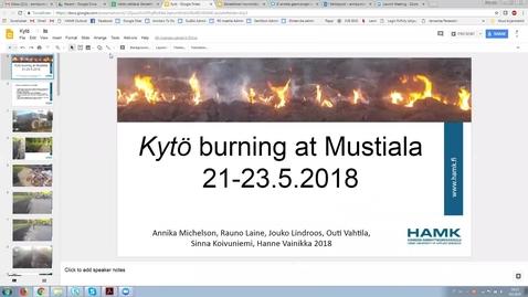 Kytö burning