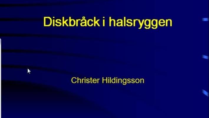T8 Ortopedi - CH Halsdiskbråck 2011.mp4