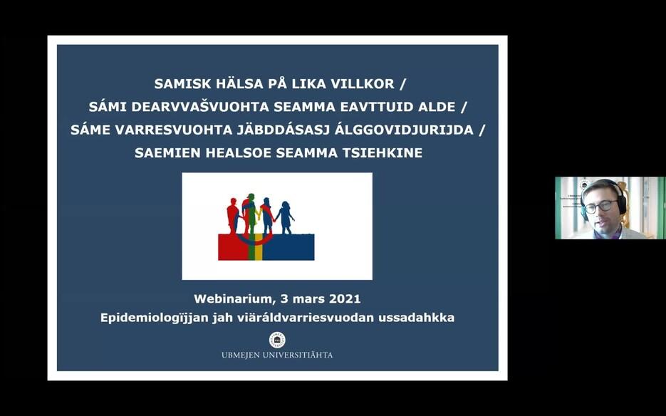Film: Webinarium om hälsostudien Samisk hälsa på lika villkor