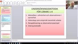 Thumbnail for entry Undersökningsmetodik för lärare 1