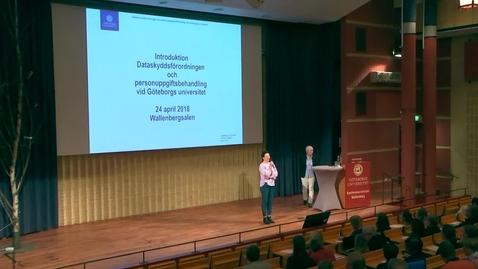 Introduktion till dataskyddsförordningen och personuppgiftsbehandling vid Göteborgs universitet