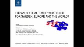 Miniatyr för inlägg TTIP and global trade: What´s in it for Sweden, Europe and the world?