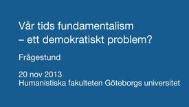 Miniatyr för inlägg Frågestund om fundamentalism,