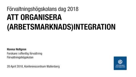Att organisera (arbetsmarknads)integration