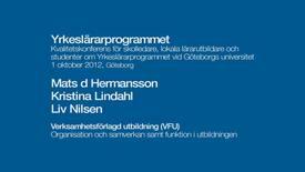 Miniatyr för inlägg Verksamhetsförlagd utbildning (VFU). Organisation och samverkan samt funktion i utbildningen.