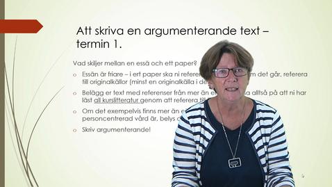 Att skriva en argumenterande text - termin 1