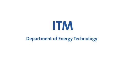 Thumbnail for entry Björn E Palm presents the Department of Energy Technology