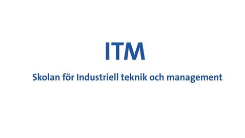 Thumbnail for entry Jan Wikander presenterar ITM