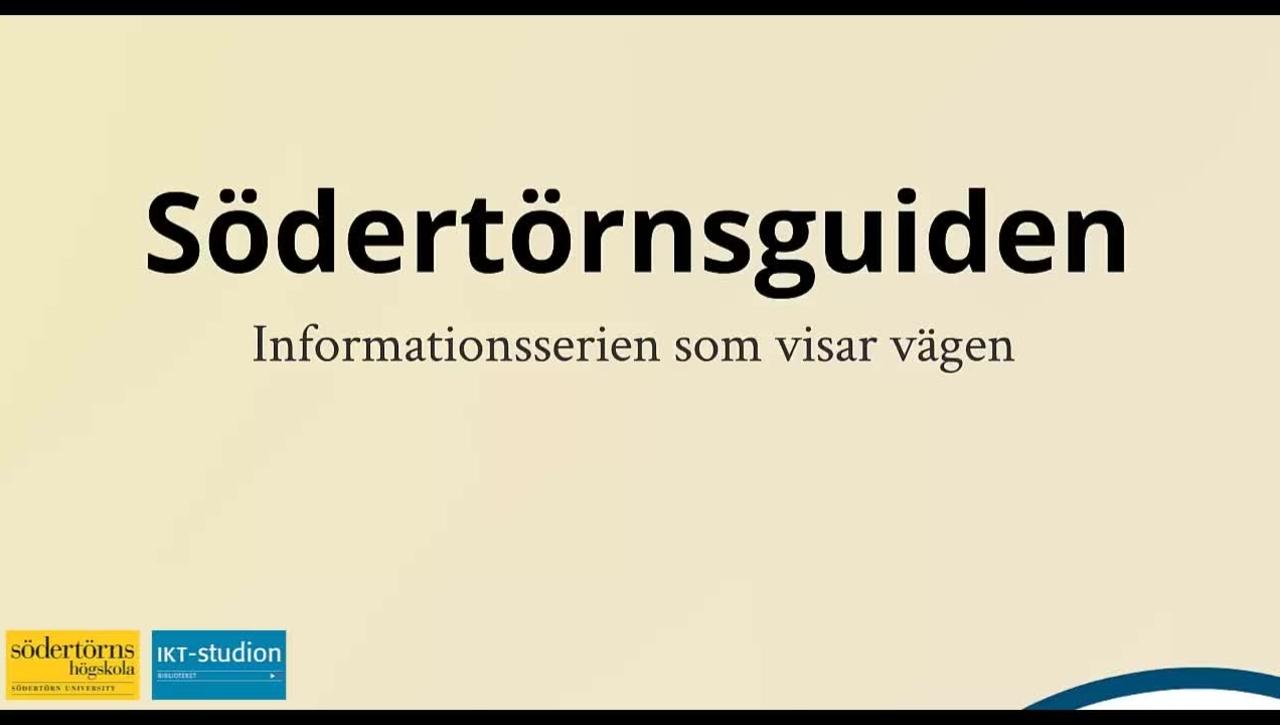 Sodertornsguiden - Att forsta och skriva akademisk text