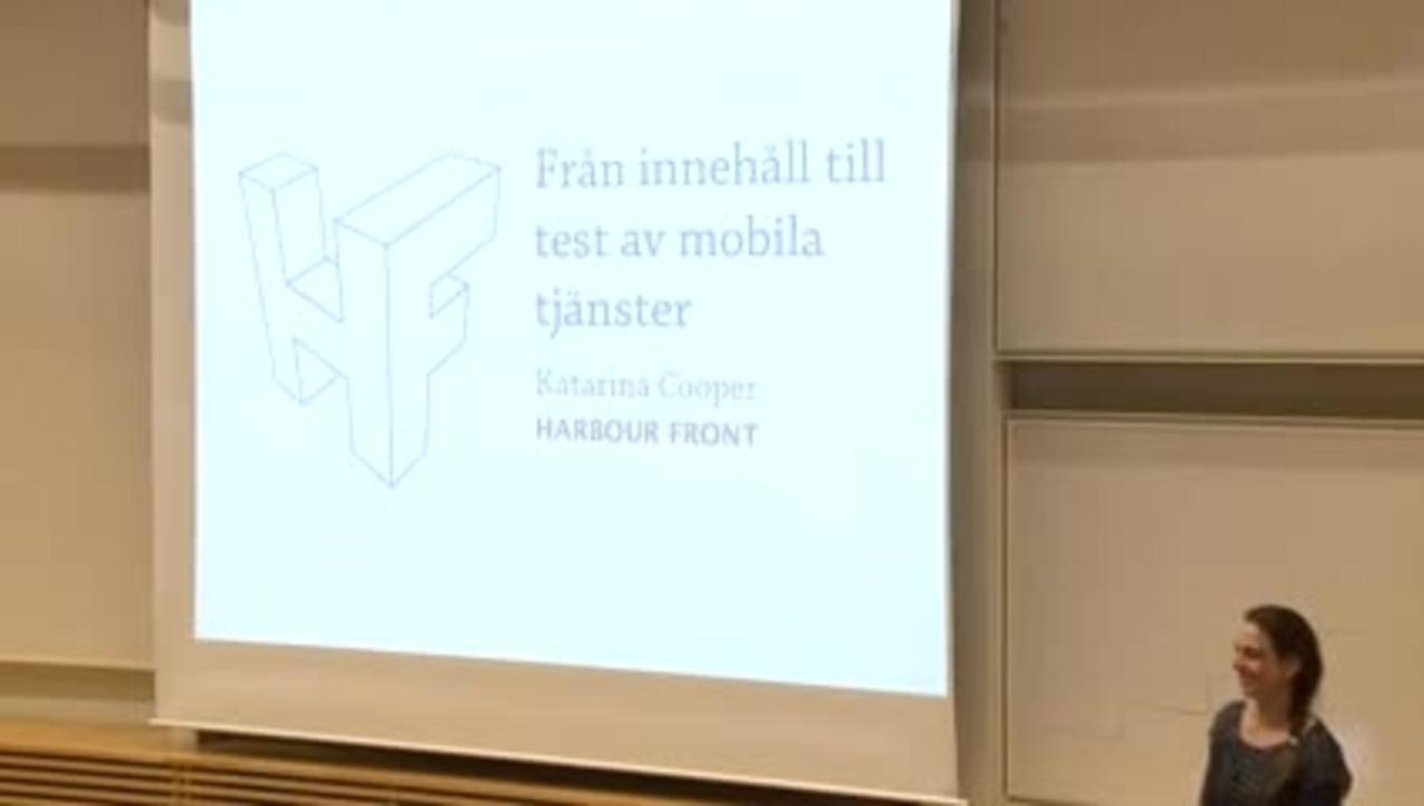Katarina Cooper – Från innehåll till test inom mobila tjänster / 2014