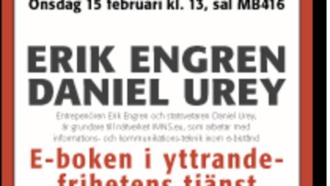 Miniatyr för inlägg Erik Engren & Daniel Urey - E-boken i yttrandefrihetens tjänst / 2012