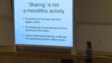 Miniatyr för inlägg Airi Lampinen om integritet i sociala media Part One
