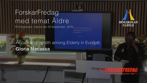 Thumbnail for entry Gloria Macassa - Abuse and Health among Elderly in Europe
