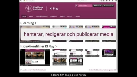 Hantera My Media(v2)